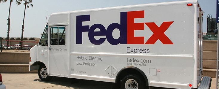 FedEx wrapped commercial box truck