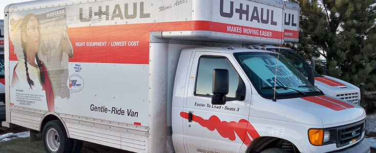 Uhaul box truck fleet wrap