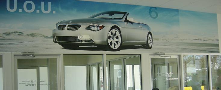 Auto Dealership Interior Showroom Service Wall Mural