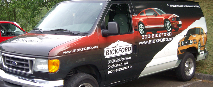 Auto Dealership Parts Truck Van Wrap