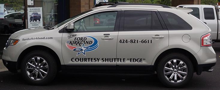 Auto Dealership Shuttle Wrap