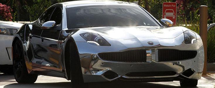 Chrome vehicle wrap