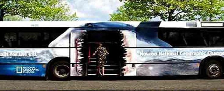 Copenhagen Zoo themed bus wrap