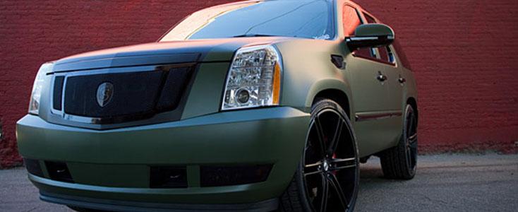 Travis Barker SUV solid color wrap