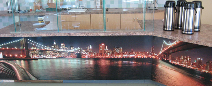Restaurant Wall Graphic - Bridge