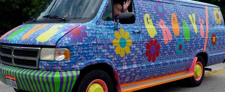 flashy van wrap