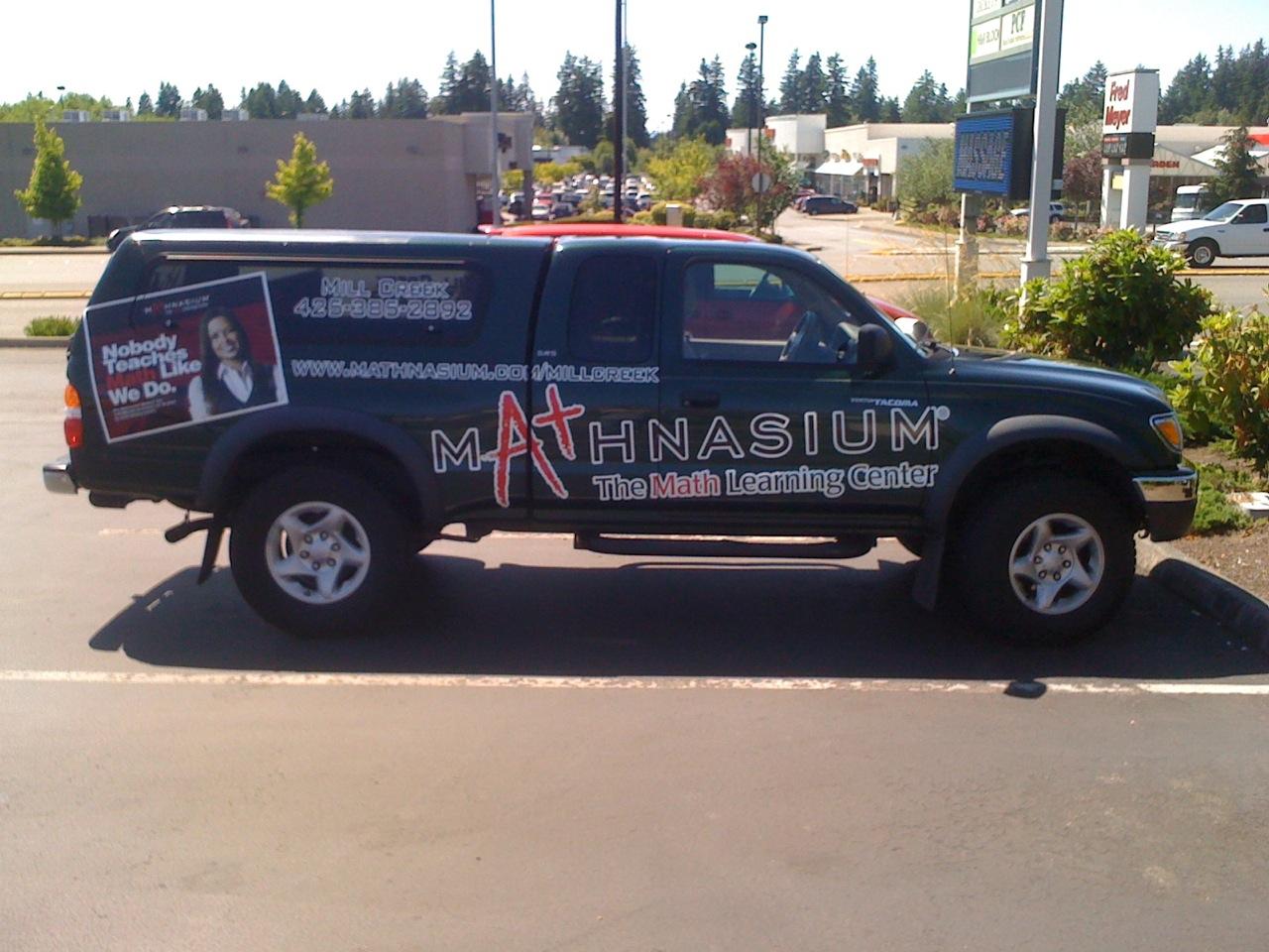 Mathnasium Learning Center Truck Fleet Wrap