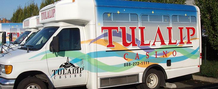 Vehicle Wraps - Tulalip Casino Shuttle