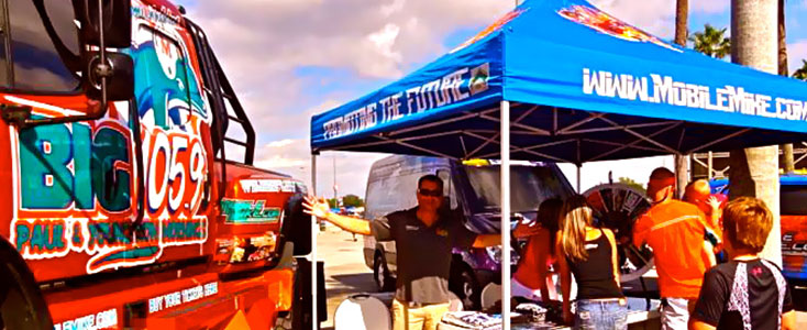 Car Wrap at Event Tail Gate Party