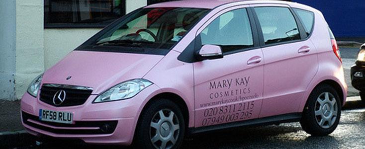 Mary Kay mercedes car wrap